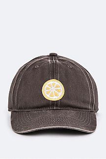 Lemon Slice Toddler Washed Cotton Cap