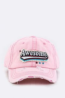 AWESOME Embroidery Cotton Cap
