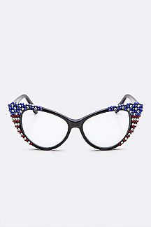 Austrian Crystal American Flag Optical Sunglasses
