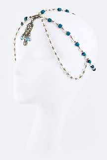 Beads & Pearl Layer Goddess Head Chain