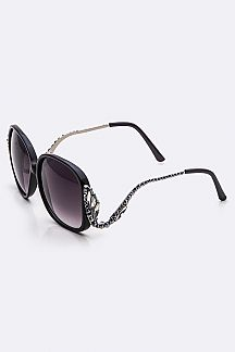 Iconic Austrian Crystal Oversize Sunglasses