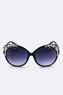Austrian Crystal Oversize Fashion Sunglasses
