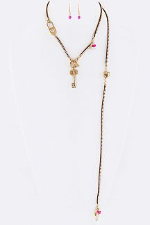 Key Charms Iconic Convertible Necklace Set