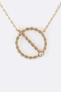 Chain Linked Petite Pendant Necklace