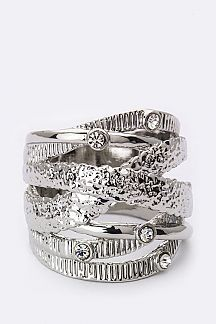 Overlapped Metal Layer & Crystal Ring