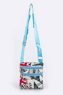 Assorted U.K Pattern Crossbody Bags Set