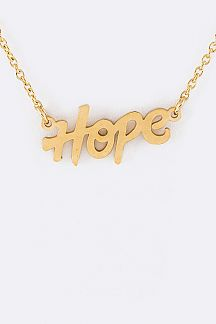 HOPE Stainless Steel Pendant Necklace