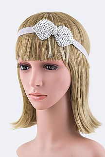 Crystal Bow Stretch Headband