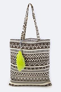 Tribal Print Fashion Tote
