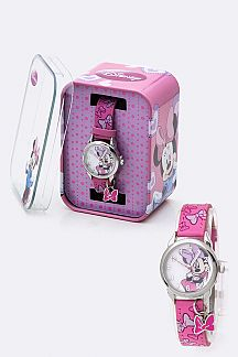 Minnie Bow Print Strap Watch