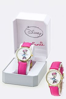Embossed Strap Minnie Watch