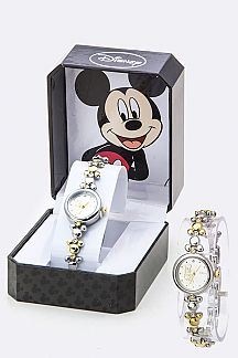 Crystal & 2 Tone Micky Bracelet Watch