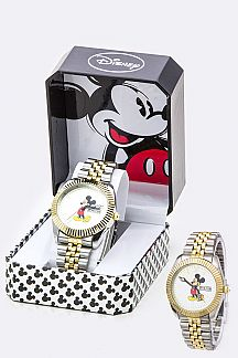 Notched Bezel Micky Watch - WIDE
