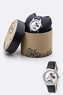 Croc Embossed Minnie Watch
