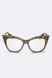 Crystal Ornate Optical Cat Eye Sunglasses