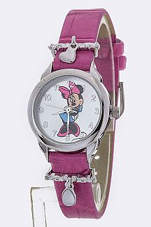 Heart Charm Fashion Minnie Watch