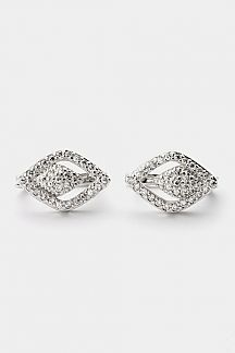 CZ Double Rhombus Earrings