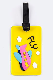 Airplane Jelly Bag & Luggage Tag