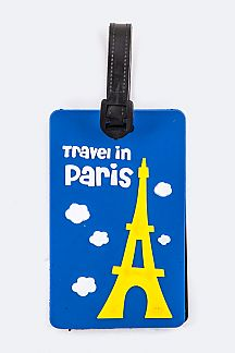 Travel In Paris Jelly Bag & Luggage Tag