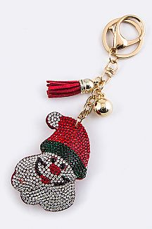 Crystal Santa Claus Key Charm