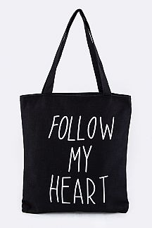 FOLLOW MY HEART Fashion Tote