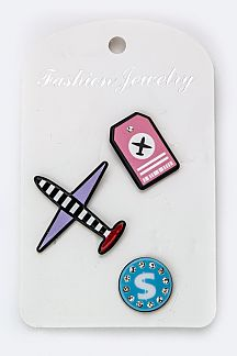 Mix Airplane Pins Set