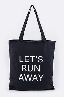 LET'S RUN AWAY Fashion Tote