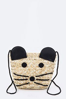 Iconic Mouse Straw Fashion Swing Bag