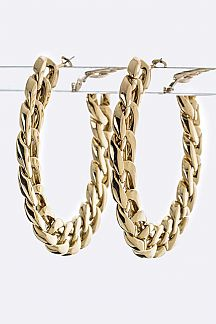 Chunky Chain Hoop Earrings