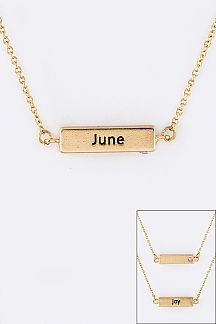 June Birth Stone Pendant Necklace