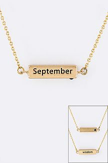 September Birth Stone Pendant Necklace