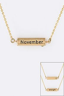 November Birth Stone Pendant Necklace