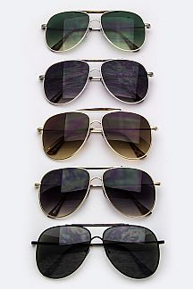 Top-Bar Aviator Sunglasses