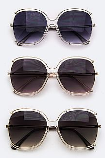 Layered Rim Butterfly Sunglasses