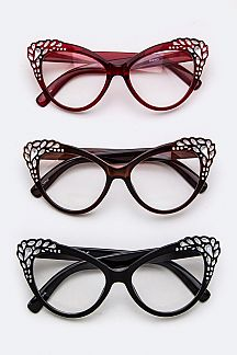 Pave Crystal Cat Eye Optical Glasses