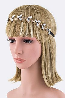 Crystal Leaf Stretch Headband