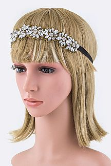 Crystal Flowers Stretch Headband