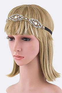 Bead & Mix Crystals Stretch Headband