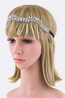 Mix Crystals Wavy Stretch Headband