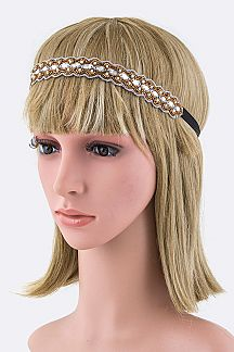Marquis Crystal & Bead Stretch Headband