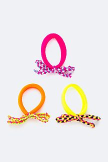 Braided Bow Ponytails Set