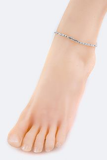 Rhinestones Stretch Fashion Anklet