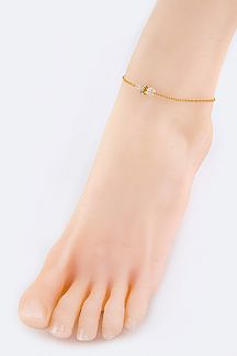 Crystal Slider Fashion Anklet