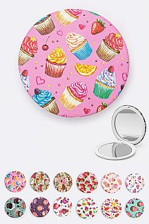Assorted Sweet Print Compact Mirrors