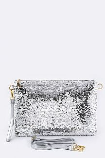 Sequins Convertible Clutch