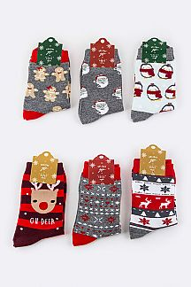 Assorted X'mas Socks Set