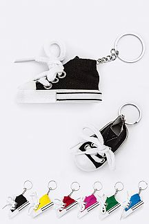 Assorted Color Sneaker Key Charms Set