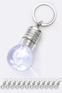 LED Light Bulb Key Charm