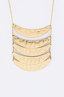 Layer Metal Plates Necklace