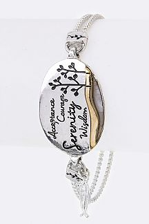 Serenity Prayer Engraved Tag Bracelet